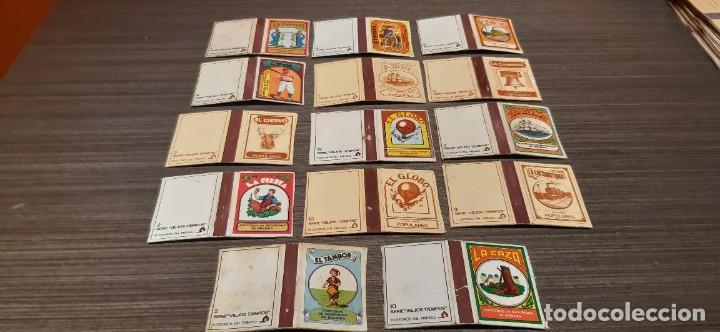 LOTE DE 14 CAJAS DE CERILLA SERIE VIEJOS TIEMPOS (Coleccionismo - Objetos para Fumar - Cajas de Cerillas)