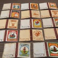 Cajas de Cerillas: LOTE DE 14 CAJAS DE CERILLA SERIE VIEJOS TIEMPOS. Lote 276256093