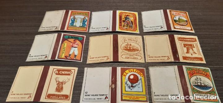 Cajas de Cerillas: Lote de 14 cajas de Cerilla serie viejos Tiempos - Foto 2 - 276256093