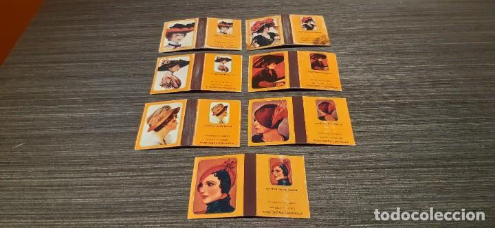 LOTE DE 7 CAJAS DE CERILLAS SERIE SOMBREROS DE EPOCA (Coleccionismo - Objetos para Fumar - Cajas de Cerillas)