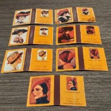 Cajas de Cerillas: LOTE DE 7 CAJAS DE CERILLAS SERIE SOMBREROS DE EPOCA. Lote 276257078