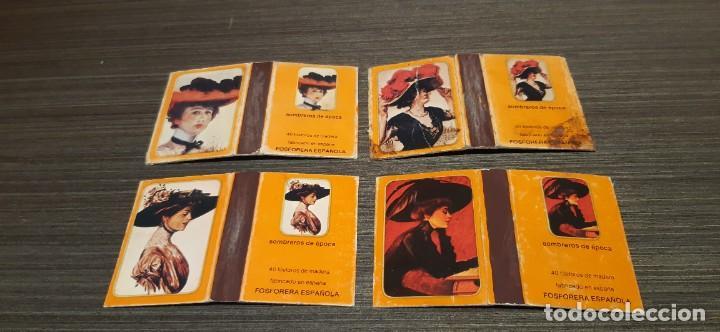 Cajas de Cerillas: Lote de 7 cajas de cerillas serie sombreros de epoca - Foto 2 - 276257078