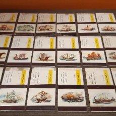 Cajas de Cerillas: LOTE DE 18 CAJAS DE CERILLAS SERIE BARCOS. Lote 276257753