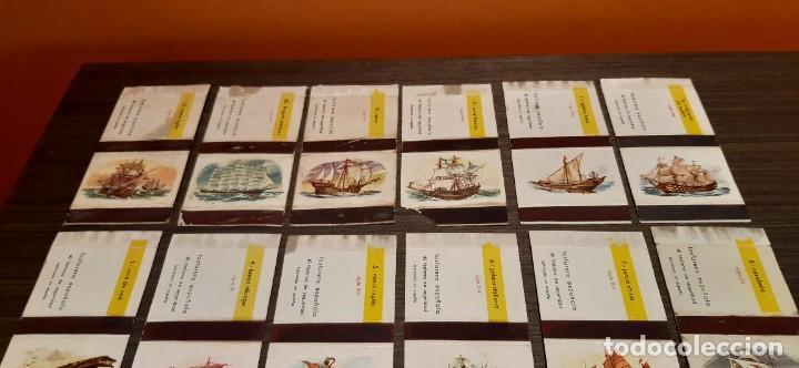 Cajas de Cerillas: Lote de 18 cajas de cerillas serie barcos - Foto 2 - 276257753