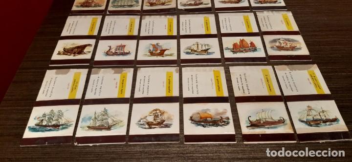 Cajas de Cerillas: Lote de 18 cajas de cerillas serie barcos - Foto 3 - 276257753