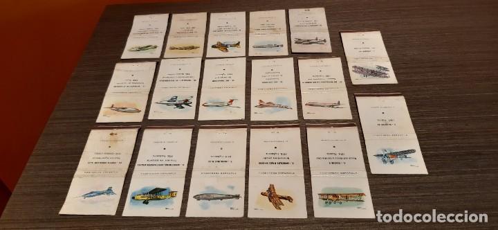 LOTE DE 17 CAJAS DE CERILLAS SERIE AVIONES (Coleccionismo - Objetos para Fumar - Cajas de Cerillas)