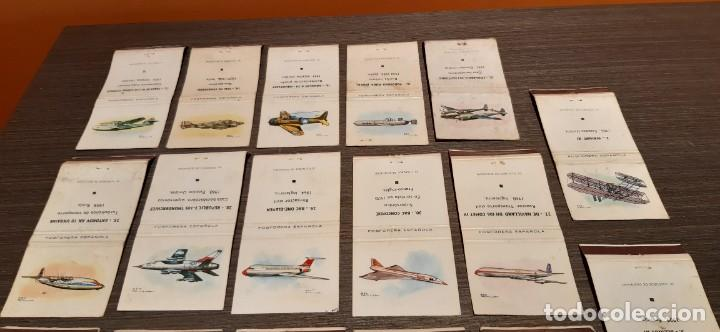 Cajas de Cerillas: Lote de 17 cajas de cerillas serie aviones - Foto 2 - 276260218