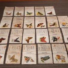 Cajas de Cerillas: LOTE DE 23 CAJAS DE CERILLAS SERIE MARIPOSAS. Lote 276262203
