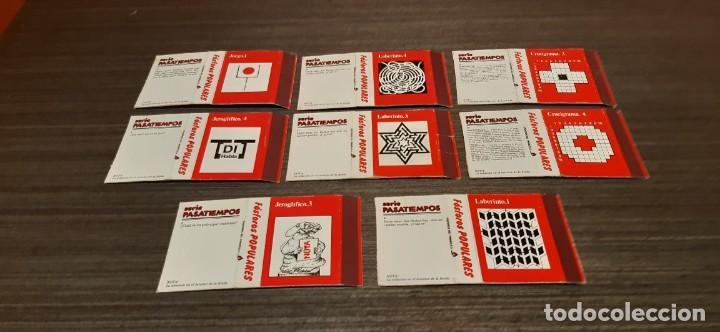 LOTE DE 8 CAJAS DE CERILLAS SERIE PASATIEMPOS (Coleccionismo - Objetos para Fumar - Cajas de Cerillas)
