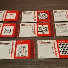 Cajas de Cerillas: LOTE DE 8 CAJAS DE CERILLAS SERIE PASATIEMPOS. Lote 276262818