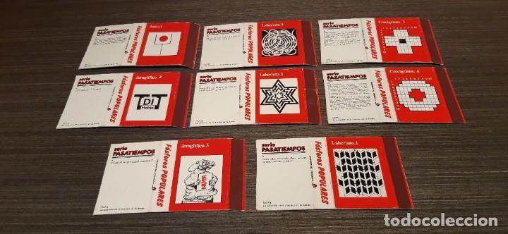 Cajas de Cerillas: Lote de 8 cajas de cerillas serie pasatiempos - Foto 2 - 276262818