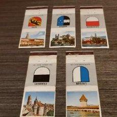 Cajas de Cerillas: LOTE DE 5 CAJAS DE CERILLAS. Lote 276263448