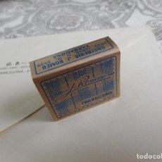 Cajas de Cerillas: ANTIGUO PORTA CAJA DE CERILLAS.PUBLICIDAD SASTRERIA J.ROMEU.TARRAGONA AÑOS 60?. Lote 277159488