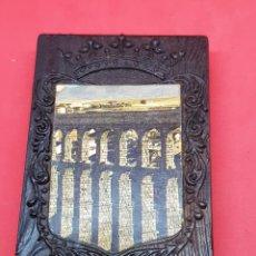Cajas de Cerillas: CAJA DE CERILLAS DOBLE-MADERA- ACUEDUCTO DE SEGOVIA. Lote 277260758