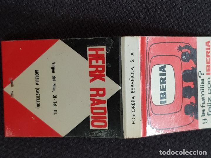 Cajas de Cerillas: IBERIA-HERK RADIO,MORELLA CASTELLON - Foto 5 - 277465273
