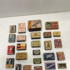 Cajas de Cerillas: LOTE 30 CAJAS DE CERILLAS / FOSFOROS MUY ANTIGUAS EUROPEAS. Lote 278586193