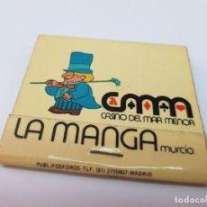 Cajas de Cerillas: ANTIGUA CAJA DE CERILLAS PUBLICIDAD CASINO LA MANGA DEL MAR MENOR MURCIA. Lote 278759708