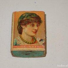 Cajas de Cerillas: (M) CAJA DE CERILLAS COMPLETA S.XIX - CAMPS Y LLOBERA - TARREGA, SEÑALES DE USO. Lote 281056663