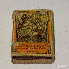 Cajas de Cerillas: (M) CAJA DE CERILLA COMPLETA N.20 MORODER HERMANOS - VALENCIA, SEÑALES DE USO. Lote 281058028