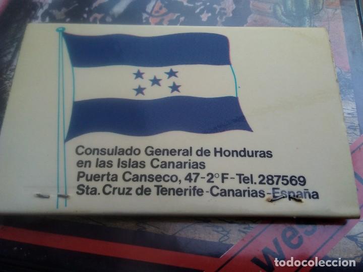 Cajas de Cerillas: Caja cerilla. Fosforera española República de Honduras - Foto 2 - 283334643