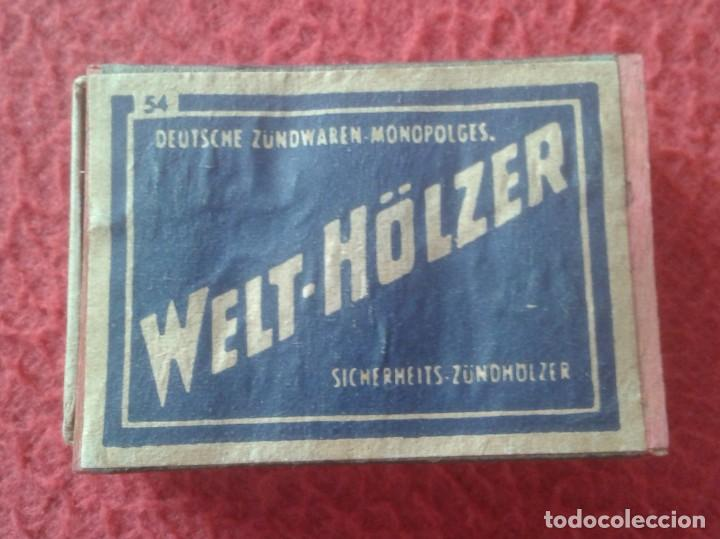 CAJA FÓSFOROS MATCHBOX BOÎTE D´ALLUMETTES WELT-HÖLZER DEUTSCHE ALEMANIA GERMANY VER FOTOS Y DESCRIPC (Coleccionismo - Objetos para Fumar - Cajas de Cerillas)