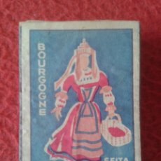Cajas de Cerillas: CAJA FÓSFOROS MATCHBOX BOÎTE D´ALLUMETTES SEITA BOURGOGNE BORGOÑA FRANCIA FRANCE TRAJES TÍPICOS VER.. Lote 287914953