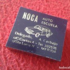 Cajas de Cerillas: CAJA DE PLÁSTICO FÓSFOROS MATCHBOX BOÎTE D´ALLUMETTES AUTO ESCUELA NOCA MÉRIDA BADAJOZ VER FOTOS..... Lote 287917198
