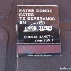 Cajas de Cerillas: UNION EXPRES PUB SALAMANCA. Lote 288105973