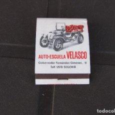 Cajas de Cerillas: AUTO-ESCUELA VELASCO SEGOVIA-COMPLETA. Lote 288106643
