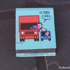 Cajas de Cerillas: JEFATURA CENTRAL DE TRÁFICO LO TENGO A GALA COMPLETA. Lote 288108383
