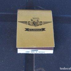 Cajas de Cerillas: G.IÑIGO SALAMANCA SEBASTIAN IÑIGO MADERA-LINEAS DE VIAJEROS-COMPLETA. Lote 288111633