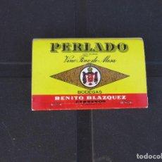 Cajas de Cerillas: CERILLAS - BODEGAS BENITO BLAZQUEZ. PERLADO. VINO TINTO DE MESA -COMPLETO. Lote 288114418