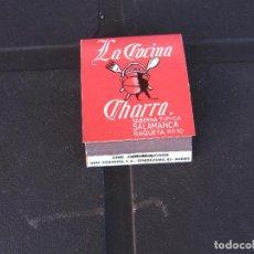Cajas de Cerillas: LA COCINA CHARRA SALAMANCA COMPLETA. Lote 288114738