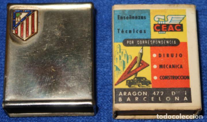 Cajas de Cerillas: Anriguo protector para caja de cerillas - Atlético de Madrid - Foto 3 - 288398938
