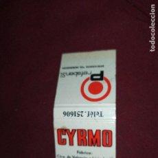 Cajas de Cerillas: ANTIGUAS CERILLAS CYRMO PREFABEN VALENCIA. Lote 290080463