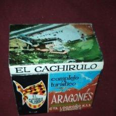Cajas de Cerillas: ANTIGUAS CERILLAS COMPLEJO TURÍSTICO ARAGONÉS EL CACHIRULO BODEGA CARRETERA LOGROÑO ZARAGOZA. Lote 290084453