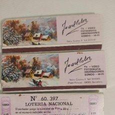 Cajas de Cerillas: TRES LIBRETAS DE CERILLAS CON LOTERIA IMPRESA. Lote 291411653