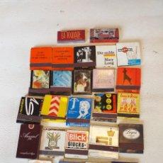Cajas de Cerillas: LOTE DE 26 CAJAS DE CERILLAS EXTRANJERAS ANTIGUAS. Lote 291982463