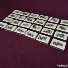 Cajas de Cerillas: COLECCIÓN DE 24 CAJAS DE CERILLAS CON DIBUJOS DE COCHES CLÁSICOS, FOSFORERA ESPAÑOLA, REY PADILLA. Lote 292290048