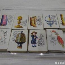 Cajas de Cerillas: 9 CAJAS DE CERILLAS, SERIE ARTESANÍA ESPAÑOLA, FOSFORERA ESPAÑOLA, AÑOS 70. Lote 292374328
