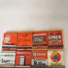 Cajas de Cerillas: LOTE DE 8 CAJAS DE CERILLAS DE COMERCIOS DE ELECTRODOMÉSTICOS SANTANDER AÑOS 60-70. Lote 293435188