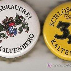 Coleccionismo de cervezas: 2 CHAPAS CERVEZA SCHLOSSBRAUEREI. ALEMANIA. DESCATALOGADAS.-----------LOTE N. 555-----CARMANJO. Lote 3700167