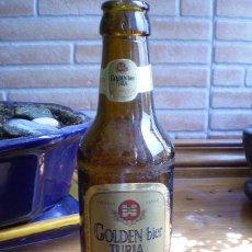 Coleccionismo de cervezas: BOTELLIN DE CERVEZA TURIA GOLDEN BIER ESPECIAL. AÑOS 80.. Lote 24055565