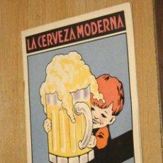 Coleccionismo de cervezas: FOLLETO DE CEVEZA MODERNA. SU VALOR HIGIÉNICO. . Lote 20015282