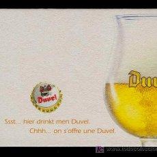 Coleccionismo de cervezas: POSAVASOS CERVEZA BELGA DUVEL. Lote 18395184