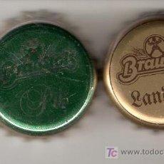 Coleccionismo de cervezas: 2 CHAPAS CERVEZA BRAUSTOLZ . ALEMANIA.------------LOTE N.455-------CARMANJO. Lote 7319688