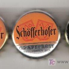 Coleccionismo de cervezas: 3 CHAPAS DE LA CERVECERA ALEMANA SCHÖFFERHOFER.------------------LOTE N. 454----------. Lote 7319800