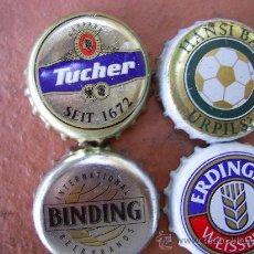 Coleccionismo de cervezas: 4 CHAPAS CERVEZA. ALEMANIA-----------------------LOTE N. 445---------------CARMANJO. Lote 10181071