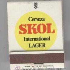 Coleccionismo de cervezas: CAJA CERILLAS SKOL. Lote 27444341