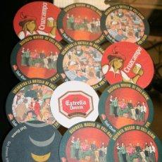 Coleccionismo de cervezas: LOTE DE 13 POSAVASOS DE CERVEZA - VOLL DAMM, ESTRELLA DAMM, CRUZCAMPO. Lote 27058669